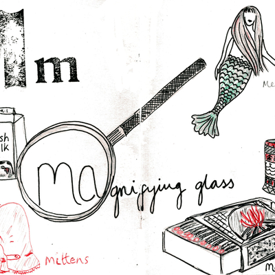 Sketchbook alphabet ideas- M