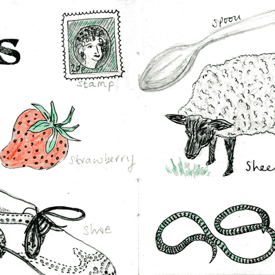 Sketchbook alphabet ideas- S