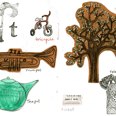 Sketchbook alphabet ideas- T