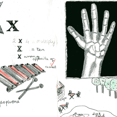 Sketchbook alphabet ideas- X