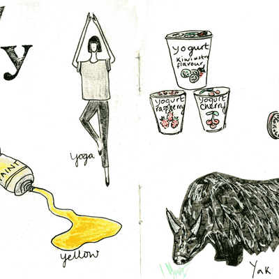 Sketchbook alphabet ideas- Y