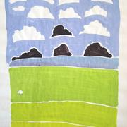Storm Clouds Plus Ten Aproaching Sheep