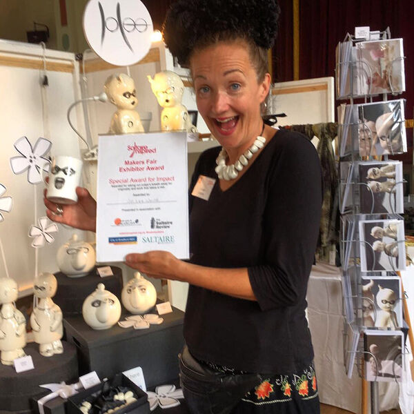 Receiving my Special Award for Impact at Saltaire Makers Fair September 2016