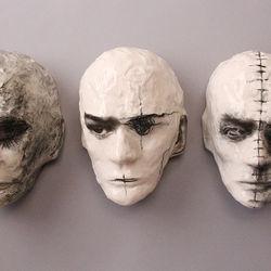 Still, Recall, Wired (wall mounted Fine Art Masks)