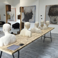 Contemporary Busts at Nomad Atelier UK Gallery, Barnsley