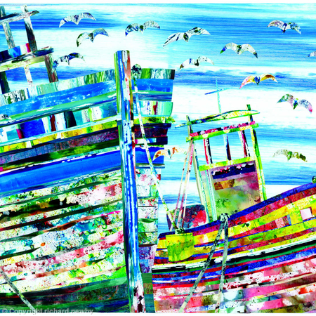 Old Boats and Seagulls