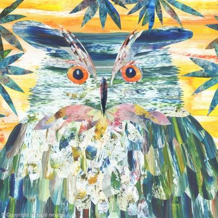 Owl at Sunset