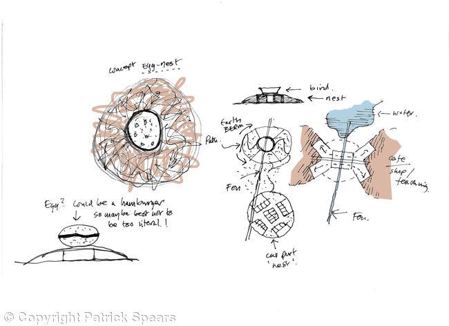 Birds nest concept diagrams coloured