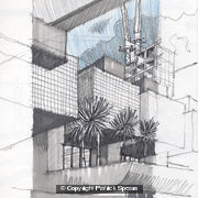 Barbican perspective sketch