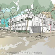 New Public Space with London Plane Trees