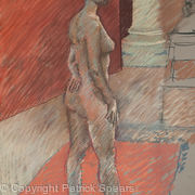 life drawing female standing