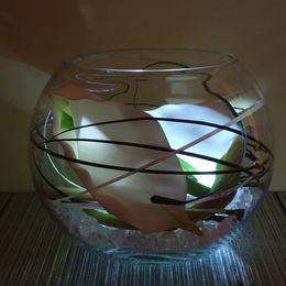Calla Lily Bowl (white lights)