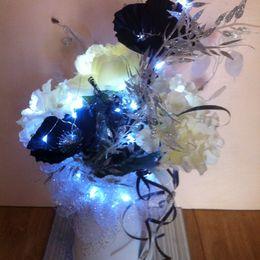 Black, cream and silver jug (white lights)