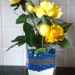 Yellow Rose Vase