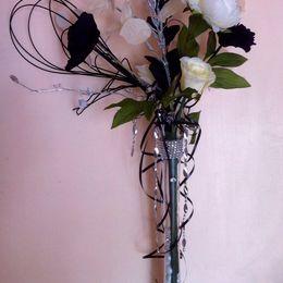 Black & Cream Vase