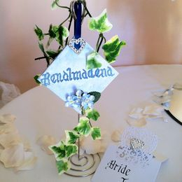Mini Canvas table name with Ivy
