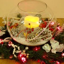 Large Christmas Bowl & Wreath