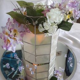 Lilac and Candle Design