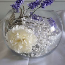 Lavender Pearl Bowl (with lights)