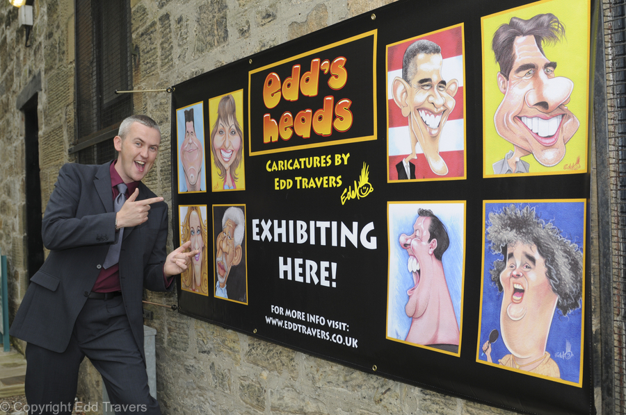 Edd's Heads Exhibition Banner