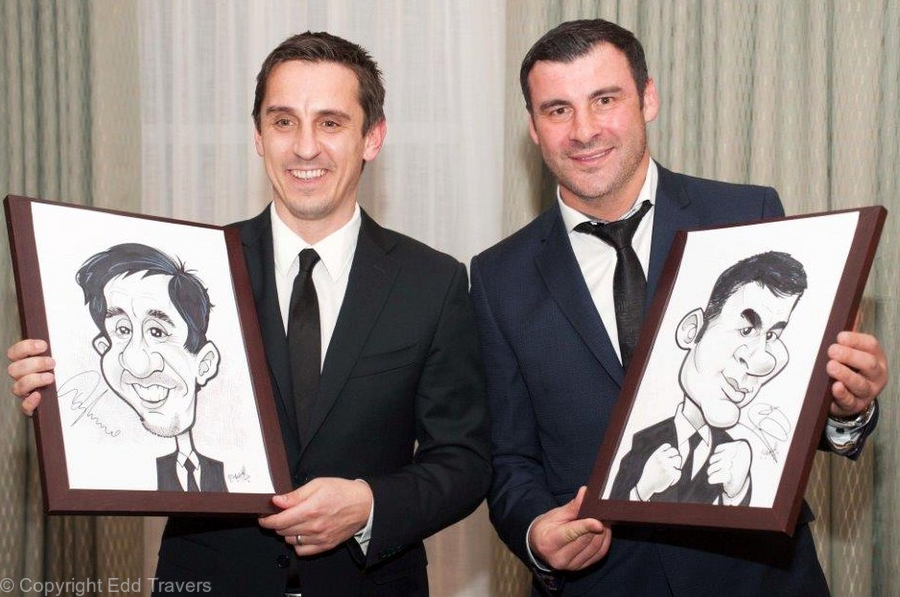 Gary Neville and Joe Calzaghe
