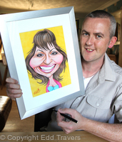 With Lorraine Kelly Caricature