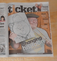 Ford Kiernan Newspaper Caricature
