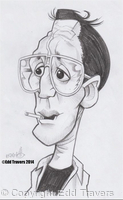 Roy Scheider as 'Chief Brody' from 'JAWS' Sketch