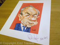 Signed Lord Sugar Print
