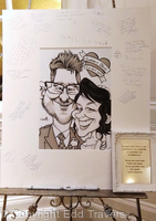 Wedding Guest Caricature Signing Board