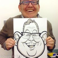 Ford Kiernan with Caricature