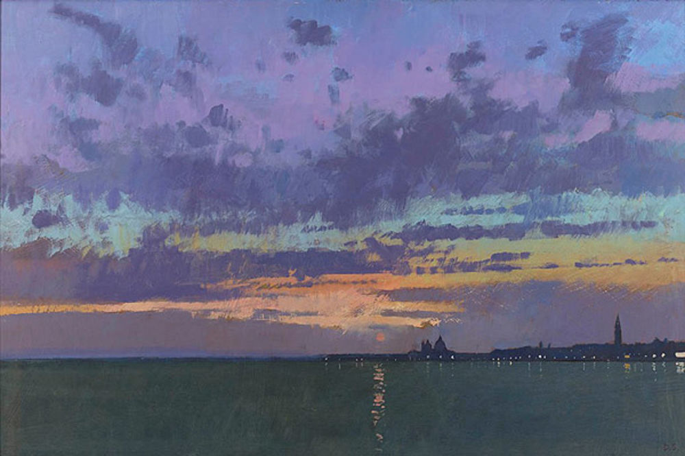 Distant Lights,Evening Crespuscule.Venice