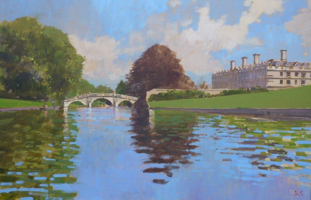 Clare Bridge and College from the River Cam, Cambridge