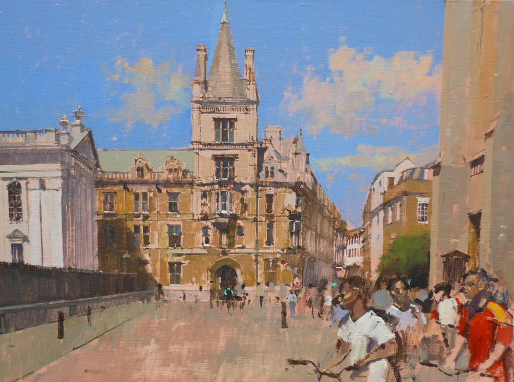 Gonville and Ciaus from Kings Parade, Cambridge