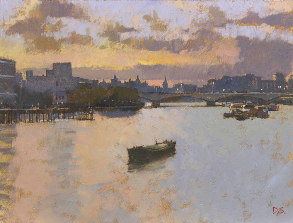 Sunset, View from Blackfriars Bridge - II