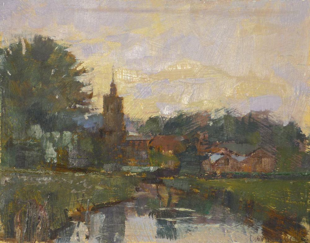 Church at Dusk, Suffolk