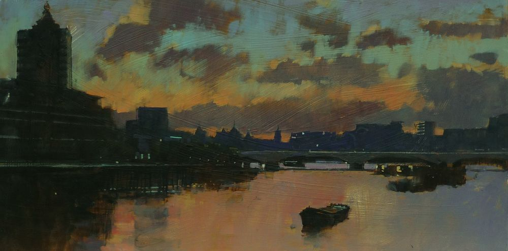 Evening clouds, View from Blackfriars Bridge