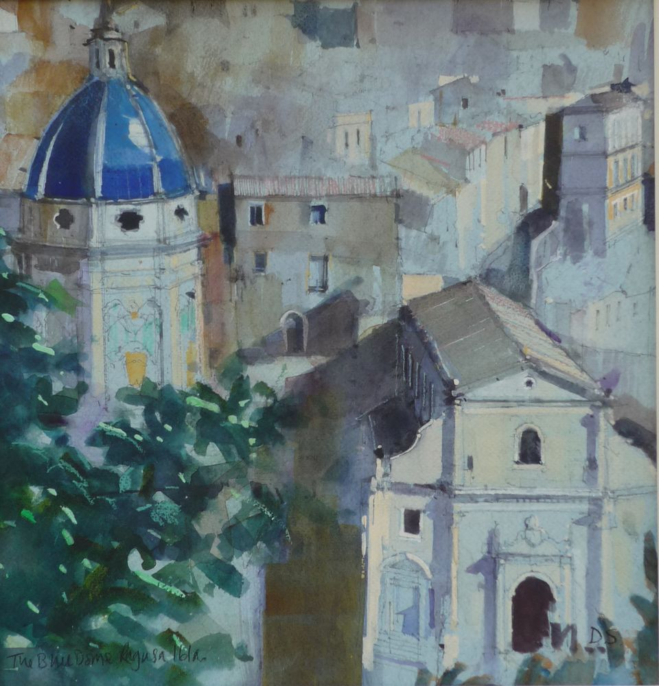 The Blue Dome. Ragusa Ibla