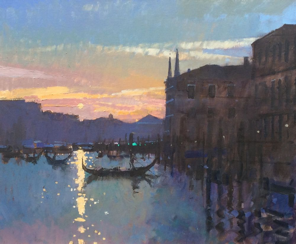 Winter Sunset on the Grand Canal, Venice