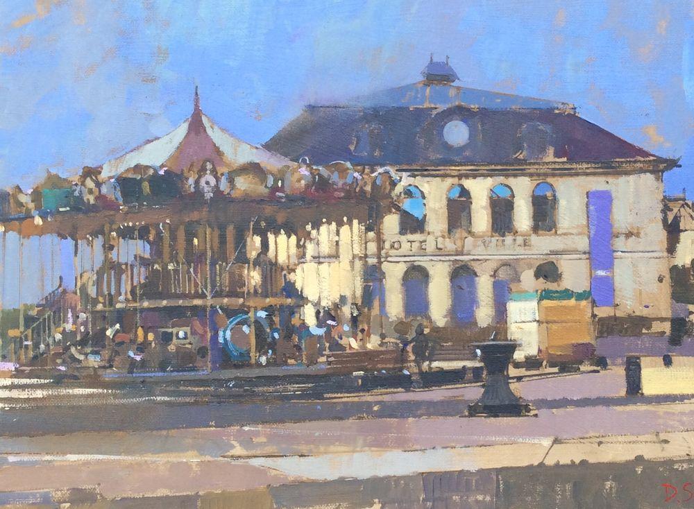 Carousel and Hotel de Ville, Honfleur