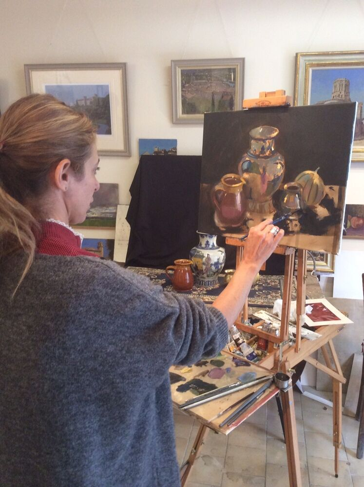 2015 Tanira working on still life