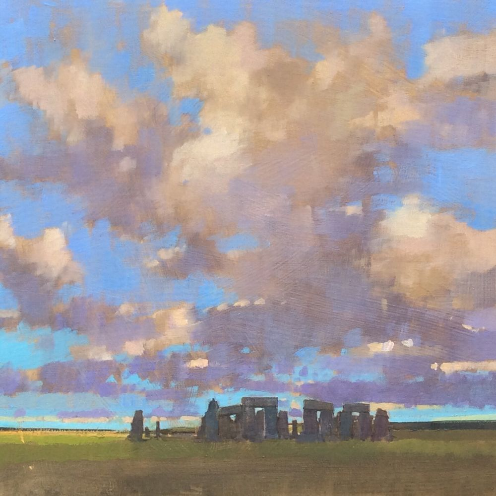 Stonehenge . Big Sky over Salisbury Plain