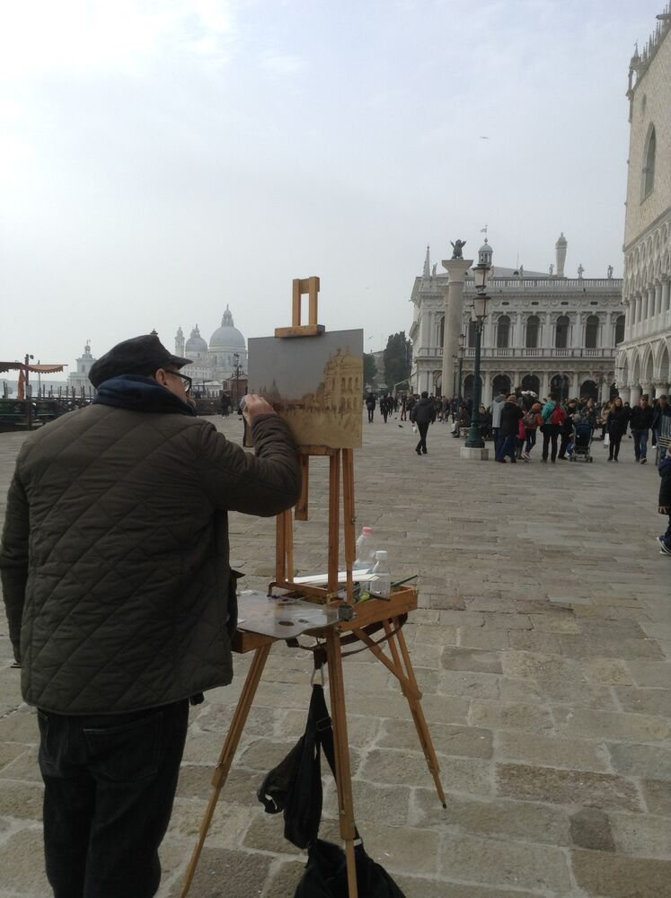 Grey day Venice, Putting colour on the Board - 22nd Feb 2016