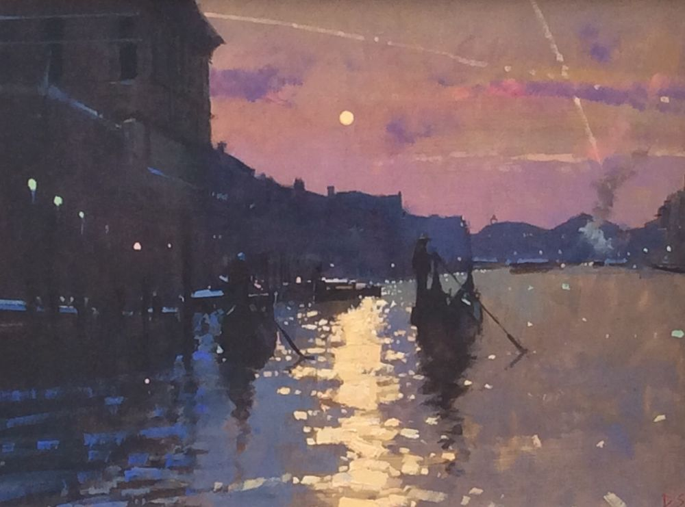The Two Gondolas, Sunset on the Grand Canal