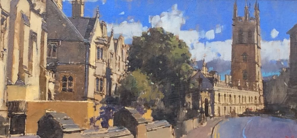Magdalen Tower from the High Street, Oxford