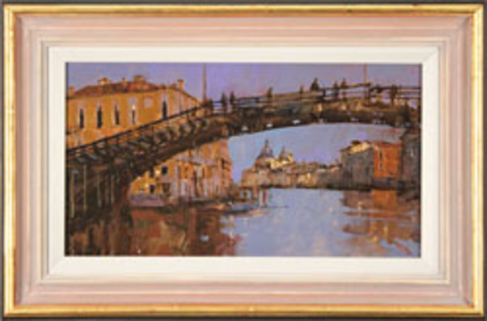 Evening Light, Beneath the Accademia Bridge, Venice