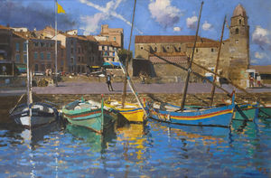Spring skies, Fishing Boats, Collioure