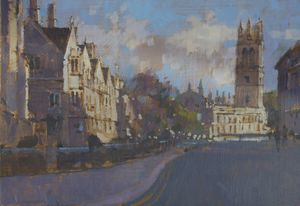 Magdalen Tower from the High St, Oxford