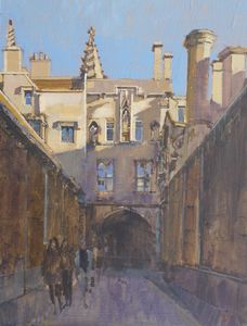 New College Portico from New College Lane, Oxford