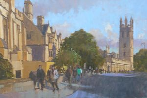 Magdalen Tower, from the High St, Late Summer Light, Oxford